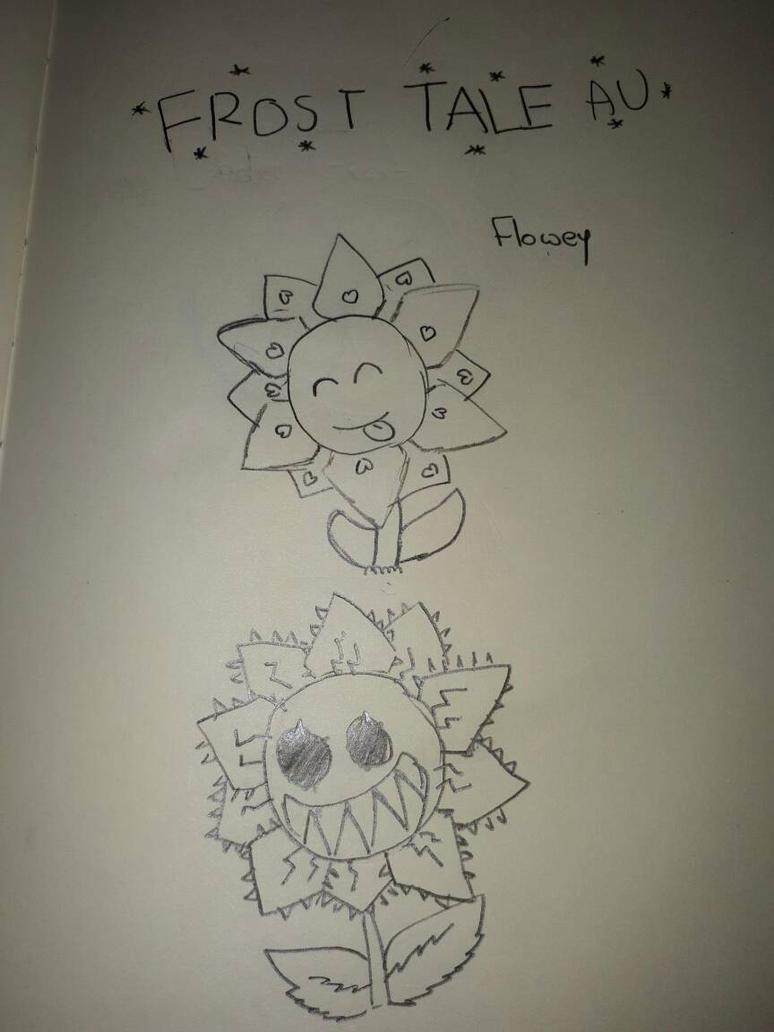 frosttale flowey drawn  by UndertaleLover365