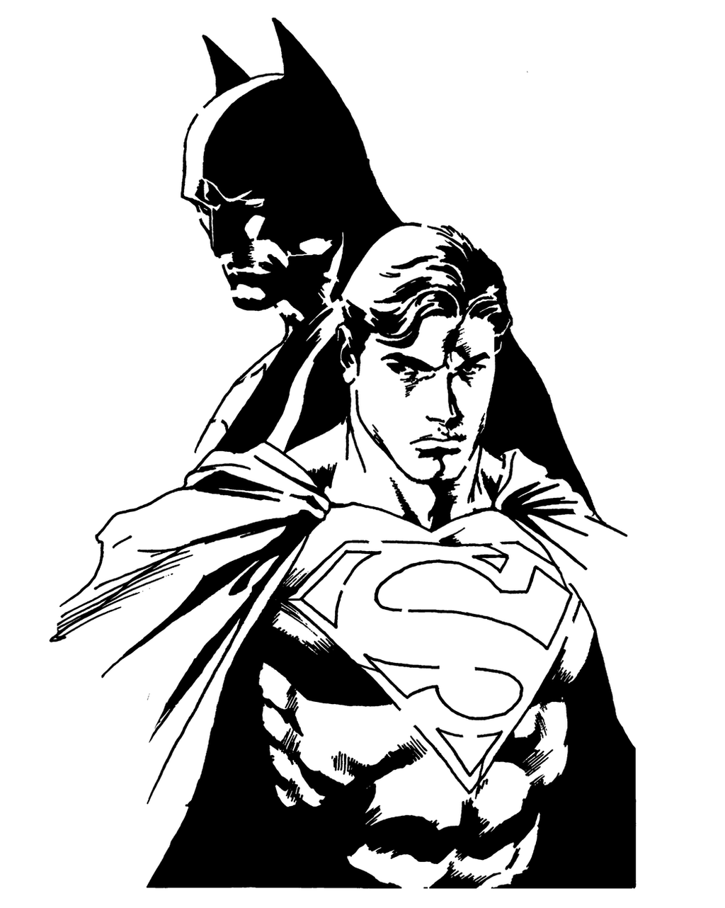 Superman And Batman Stencil By Joedson On DeviantArt