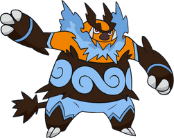 Shiny Emboar : DW Art by Muums