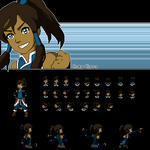 Korra in the Pokemon World by xAmeChanx