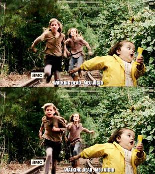 Mika e Lizzie humor meme The walking dead by twdmeuvicio