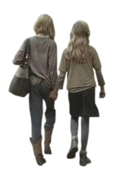 Lizzie e Mika render The Walking Dead by twdmeuvicio