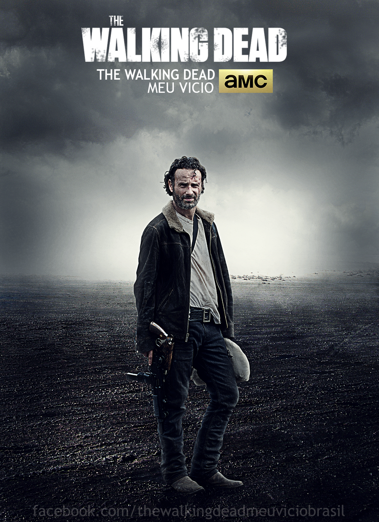 rick grimes poster the walking dead by twdmeuvicio on. Black Bedroom Furniture Sets. Home Design Ideas