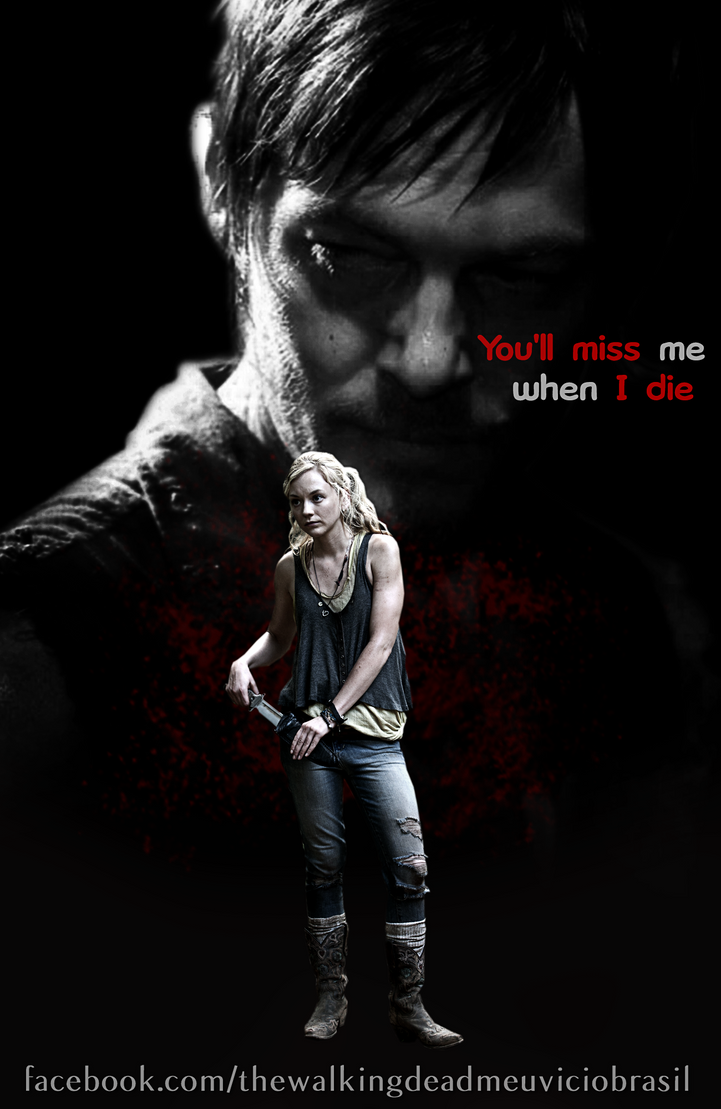 Beth and daryl poster by twdmeuvicio on deviantart
