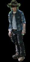 Carl The walking dead Render