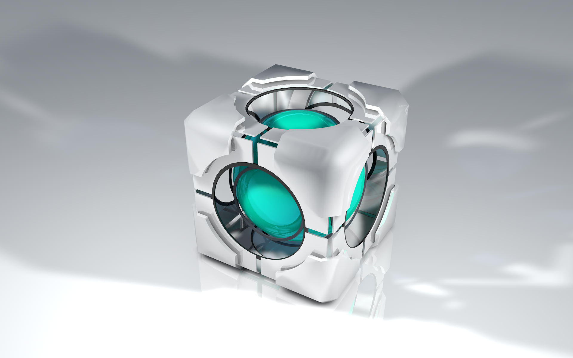 Portal 2 Refraction Cube by dj1001