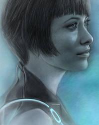 Quorra - Olivia Wilde by maichan-art