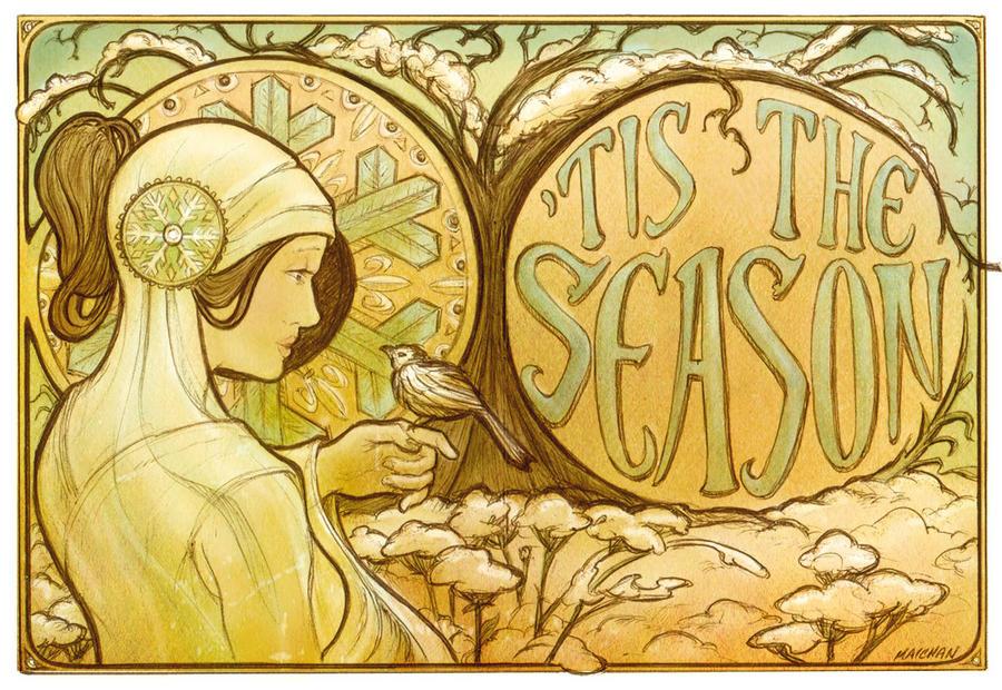 Tis the Season - Art Nouveau by maichan-art on DeviantArt