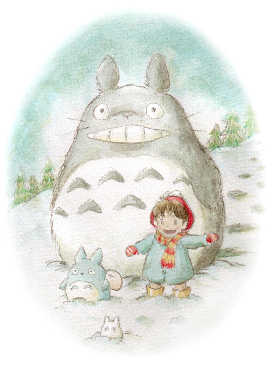 Totoro - Winter Wonderland by maichan-art