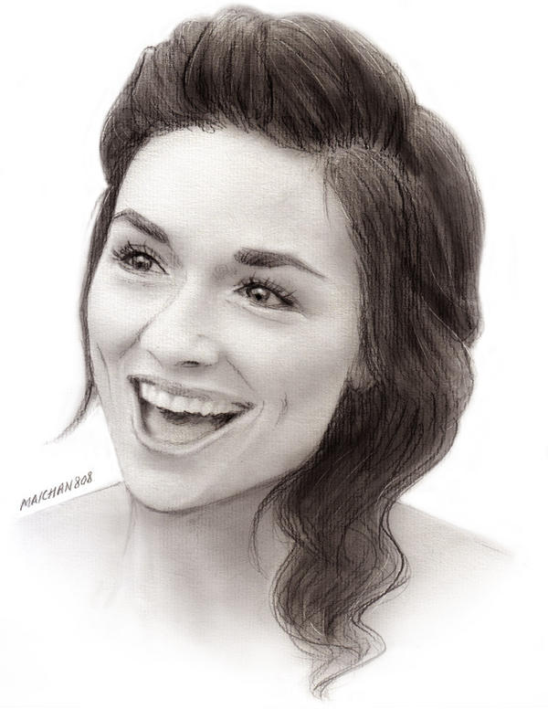 Crystal Reed as Allison Argent by maichan-art on DeviantArt