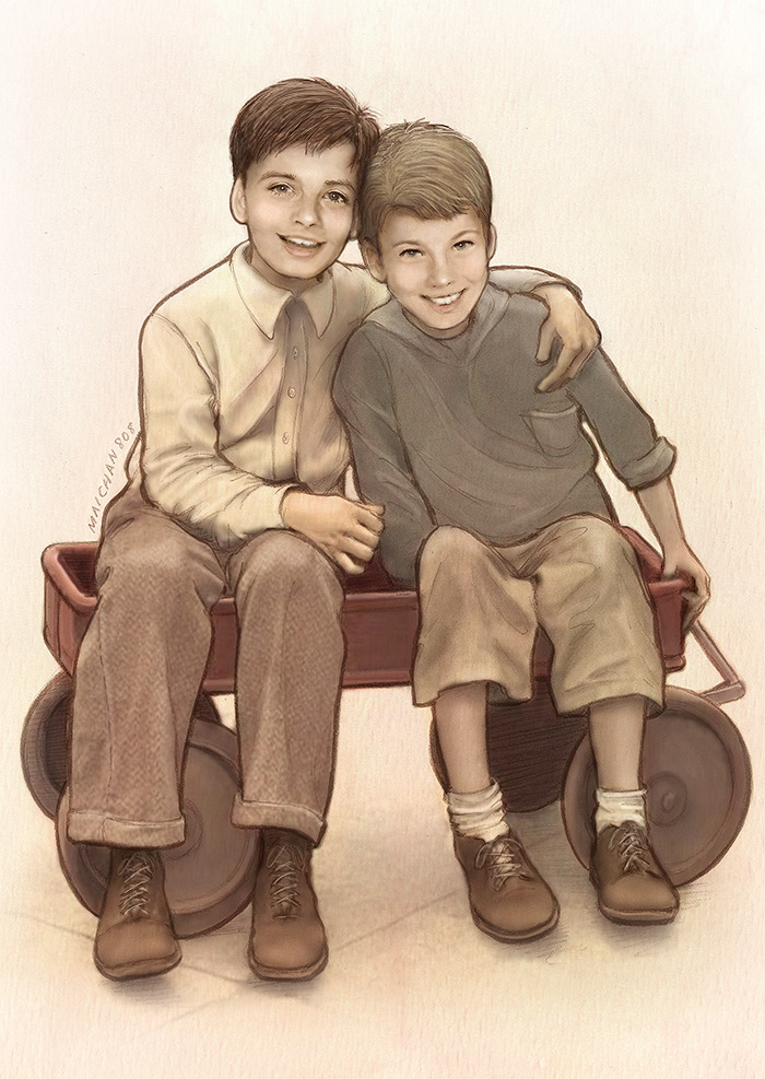 Two Kids from Brooklyn (Wee Stucky) by maichan-art