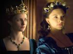 Queen Anne in blue