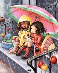 Rainy Day Friends by Isynia-Artessa