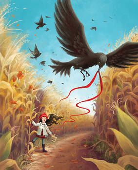 Crows in the Corn Maze