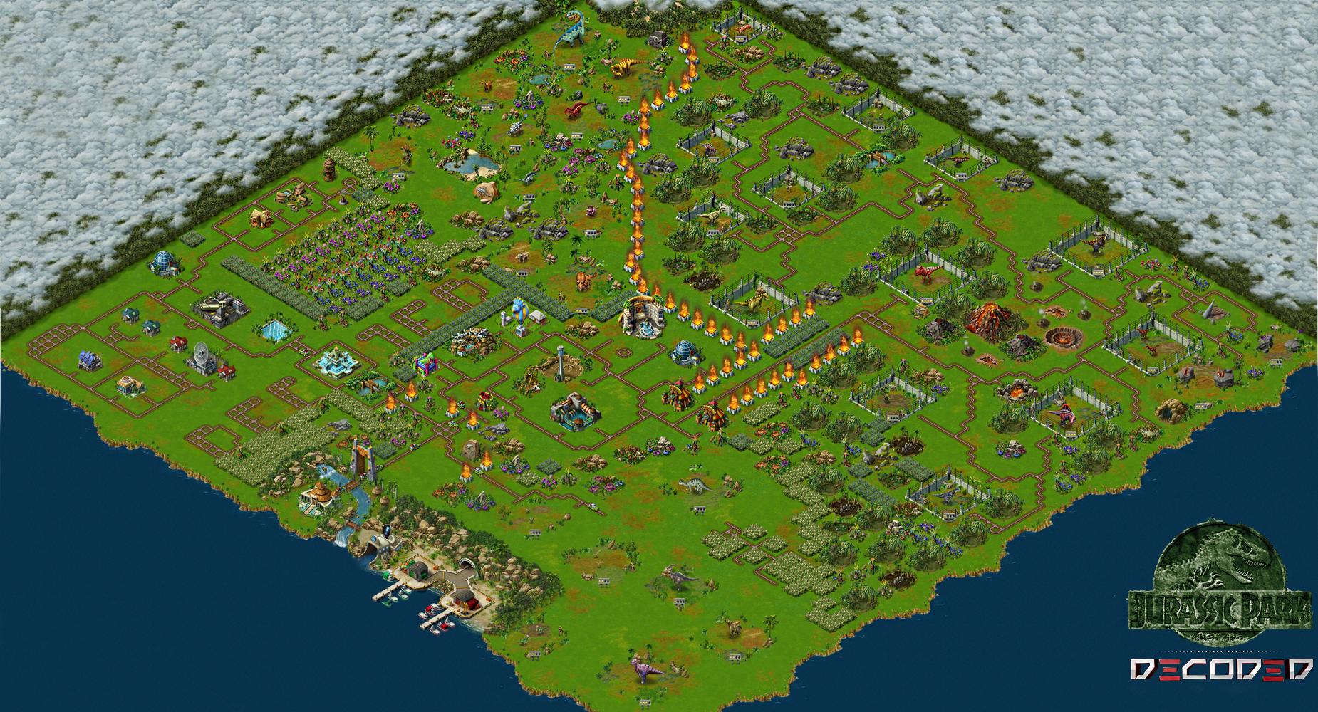 Jurassic park builder full map by iresarts on deviantart - Jurassic park builder decorations ...