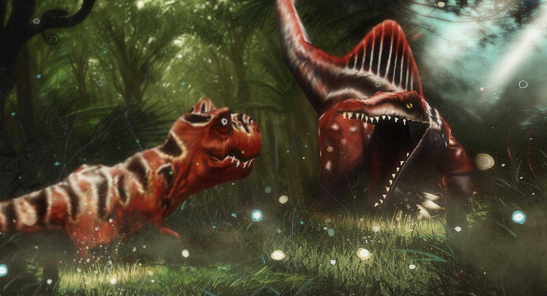 Spinosaurus VS T-Rex by IResARTS on DeviantArt