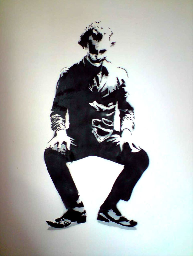 Airbrush Joker Wallpaper: Joker Stencil By Docik-on Wall By Docik On DeviantArt