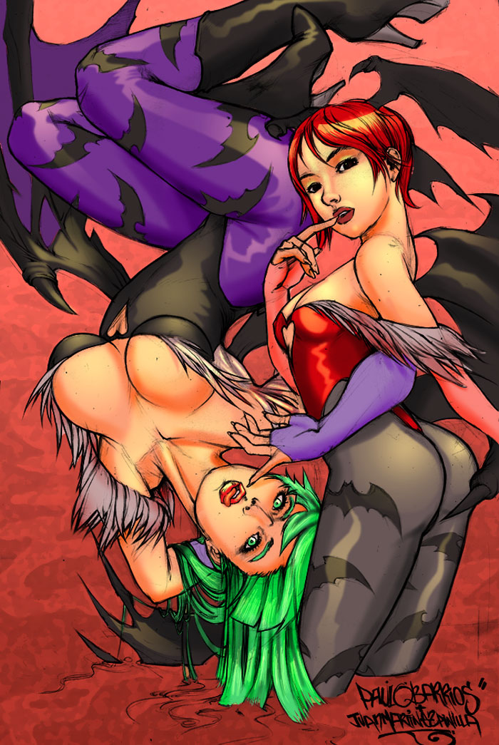 Morrigan and Lilith by Paulo Barrios by Champe-rp