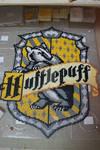 Hufflepuff house emblem in perler