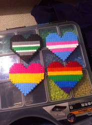 transgender agender pansexual gaypride hearts by mininete