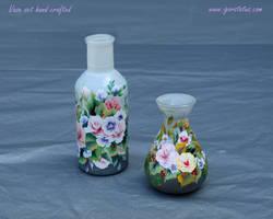 Miniature glass vase set by SvetlanaShumska