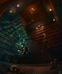 Norbert's Study by DamnTorren