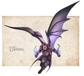 Interrogator Gunner on the wing by DamnTorren