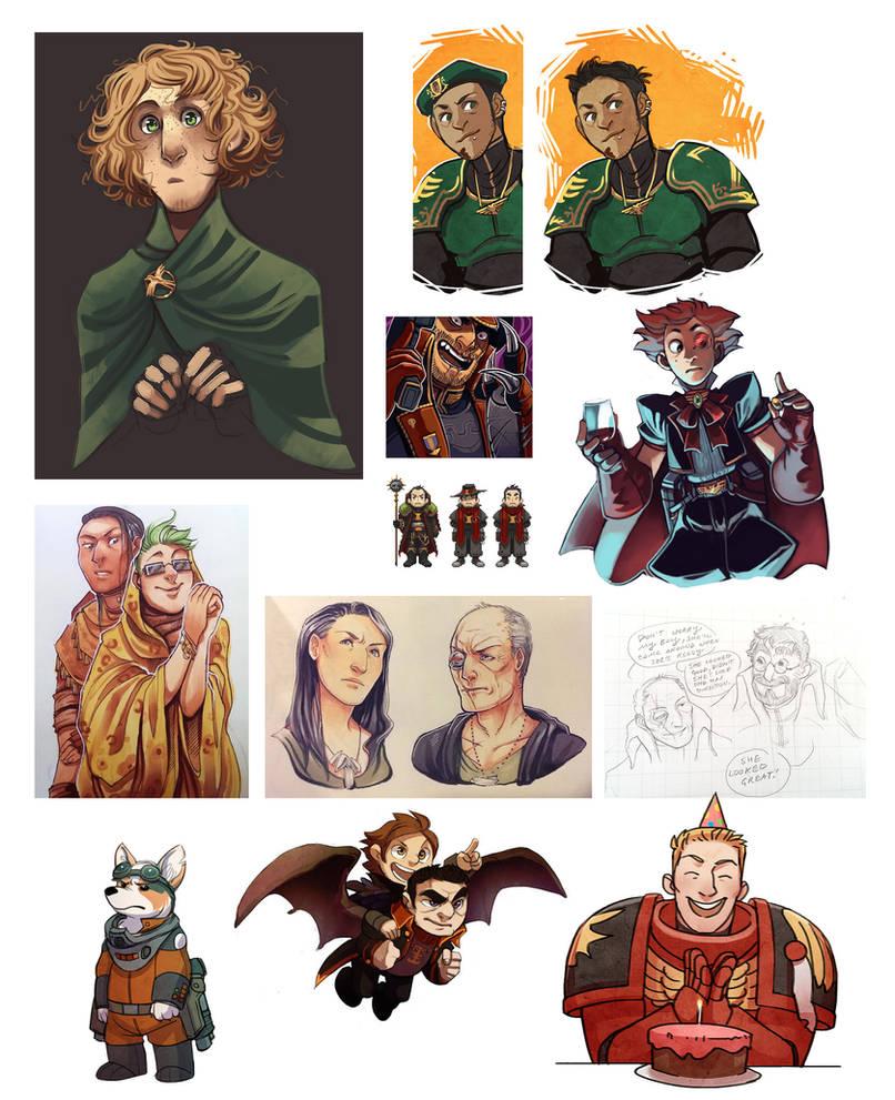 Character Art Dump by DamnTorren