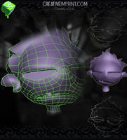 Cartoon Zombie 3D Model - Low Poly