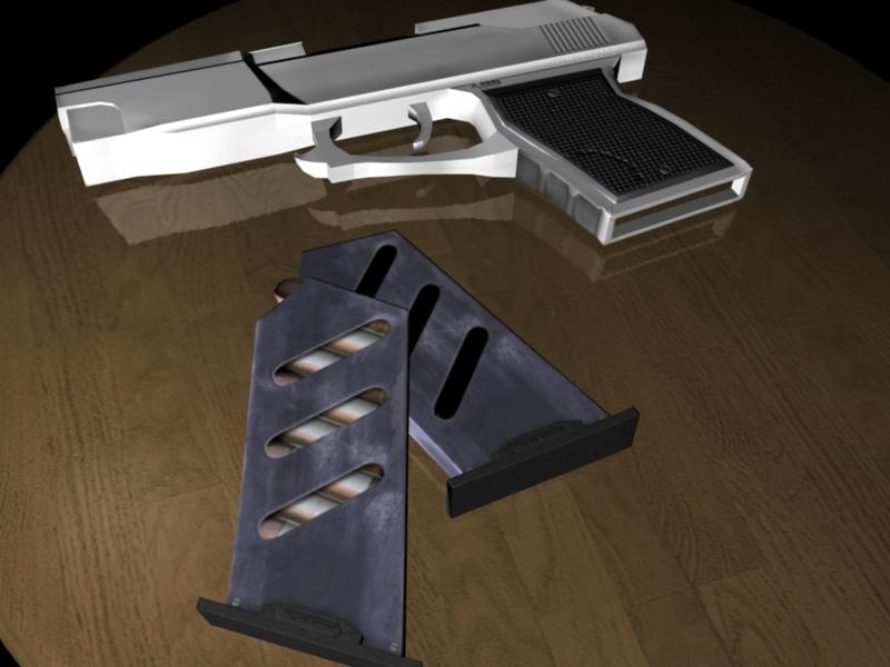 Low poly handgun