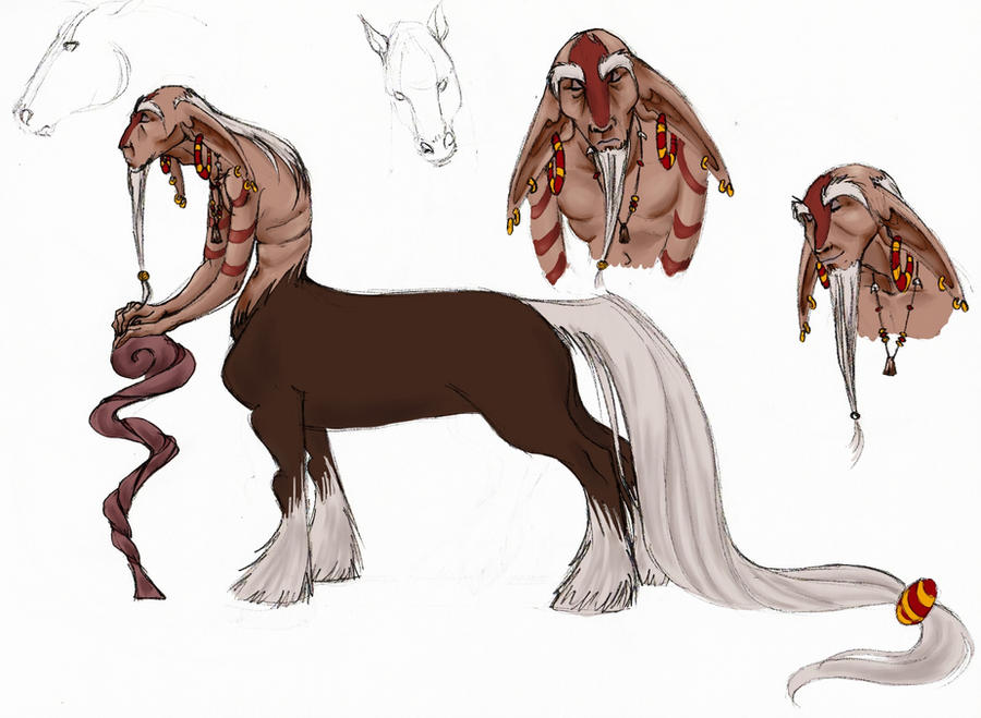Force Character Design From Life Drawing Download : Centaur character design the shaman by moonlightrose
