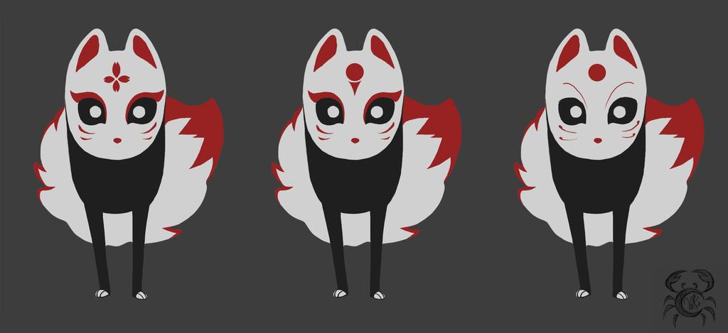 Kitsune_character variation by MoonLightRose17