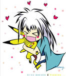 chewier: Bakura and Pikachu