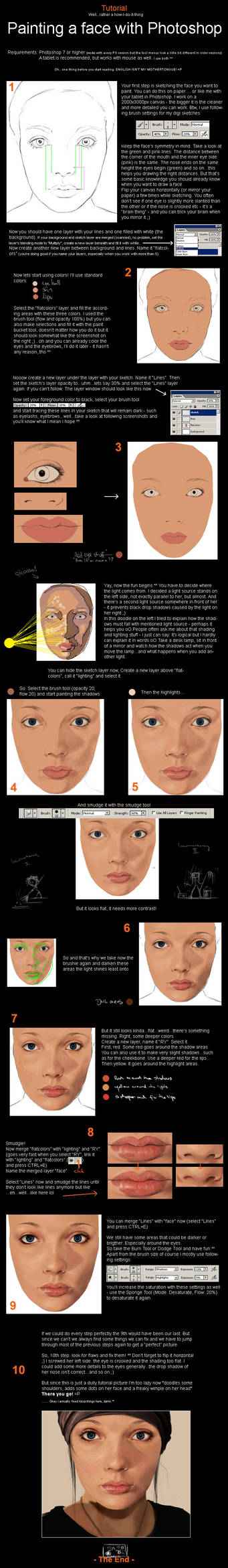 Photoshop - Painting a face