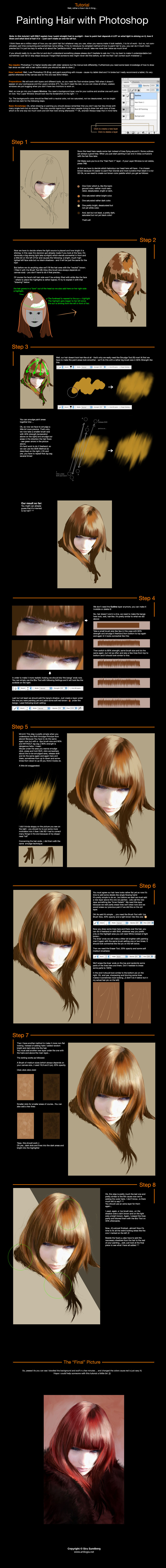 Photoshop - Painting Hair