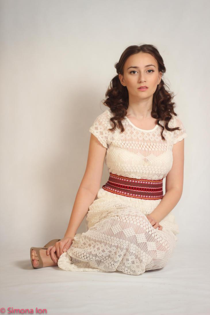White dress stock by simonamoonstock