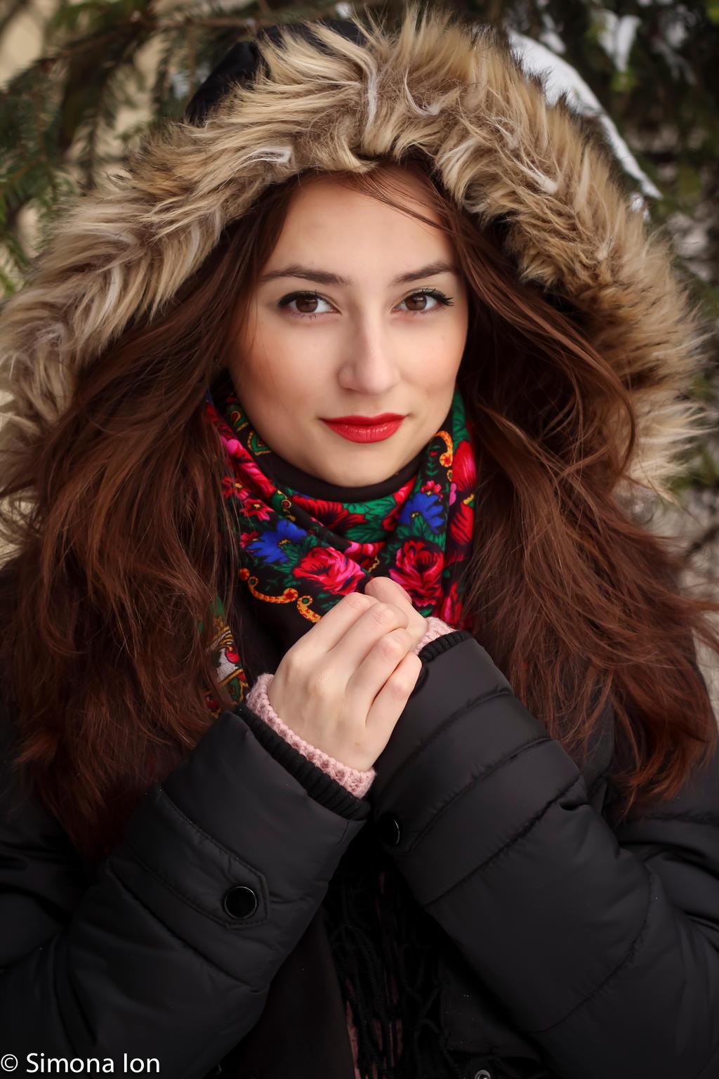 Winter portrait stock by simoona