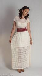 White dress stock 01 by simonamoonstock