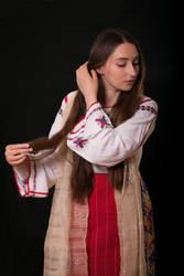 Peasant from Dobrogea | stock portrait by simonamoonstock