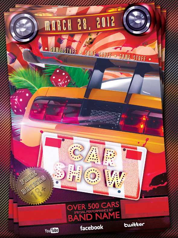 Car Show Flyer Template By Mrwooo On DeviantArt - Car and bike show flyer template