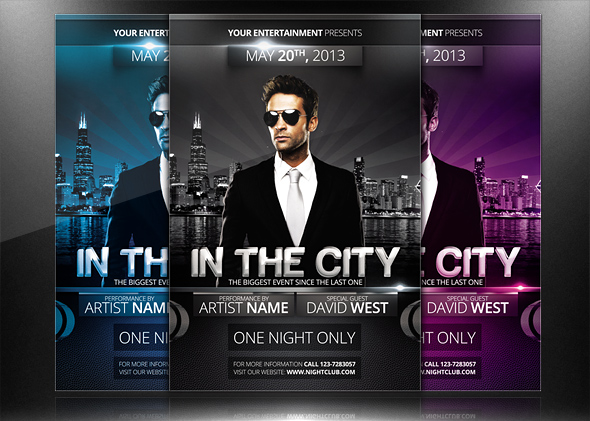 In The City - Flyer/Poster Template by mrwooo