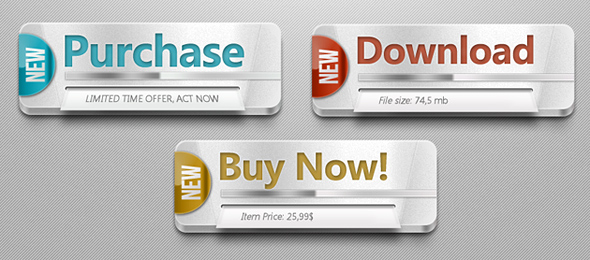 FREE Multipurpose PSD Web Buttons by mrwooo
