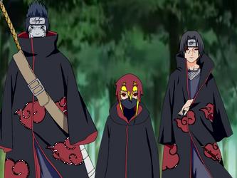 Itachi, Kisame, and Kuwata by SuzakuFire101