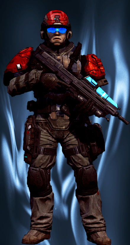 UNSC marine of the 26th battalion by b-312
