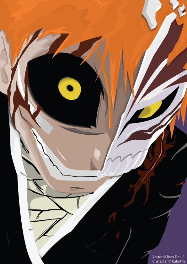 Ichigo hollow Vector by mrcatTEARS
