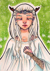 ACEO #4 - Amethyst Elf