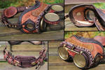 Mad Science Steampunk Goggles Large Stitching
