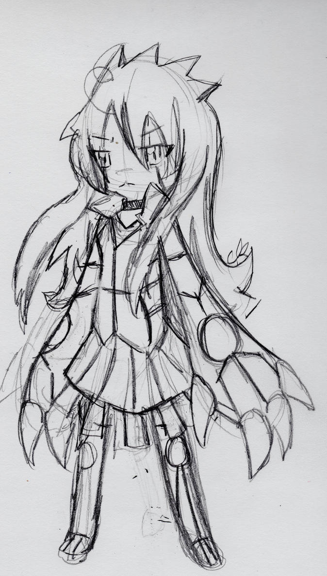 Female Groudon Gijinka Scketch. by 1Apple-Fox1