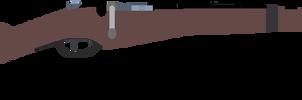 Berthier model 1890 cavalry carbine by artist-19845