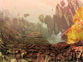 Disaster at the Coastal Wall (Mecrui) by Donovan-Insights